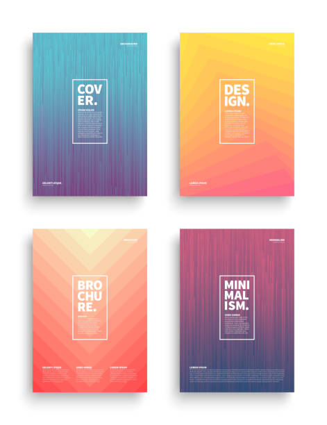Vector Different Brochures Design Templates Set of Tech Vector Different Style Brochure Cover Flyer Book Booklet Banner Broadsheet Magazine Poster Placard Presentation Design Templates Mockup. Collection of Geometrical Abstract Backgrounds vertical stock illustrations