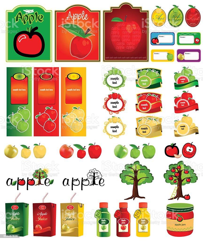 Vektor verschiedenen designs für apple – Vektorgrafik
