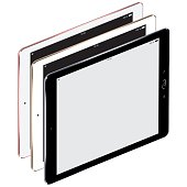 Digital tablets with blank screen. EPS10 with layers (removeable) and alternate formats (hi-res jpg, pdf).