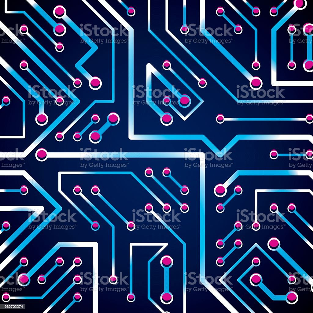 Vector Digital Technology Background With Circuit Board Elements How To Design Boards Royalty Free