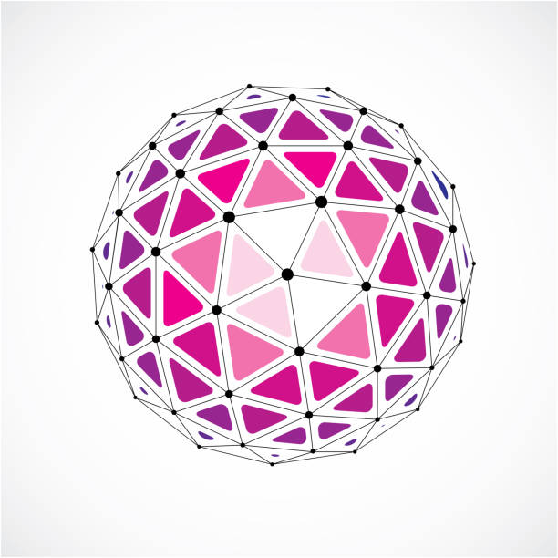 a9a83d084 Vector dimensional wireframe low poly object