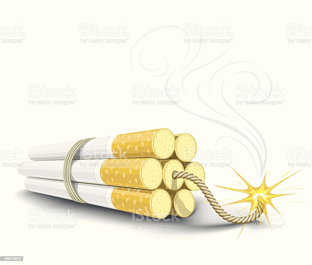 vector dinamite made from cigarettes royalty-free vector dinamite made from cigarettes stock vector art & more images of bomb