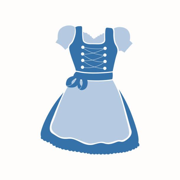 Vector Dirndl Dress Art Illustration