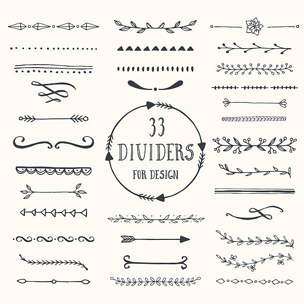 Vector dividers vector art illustration