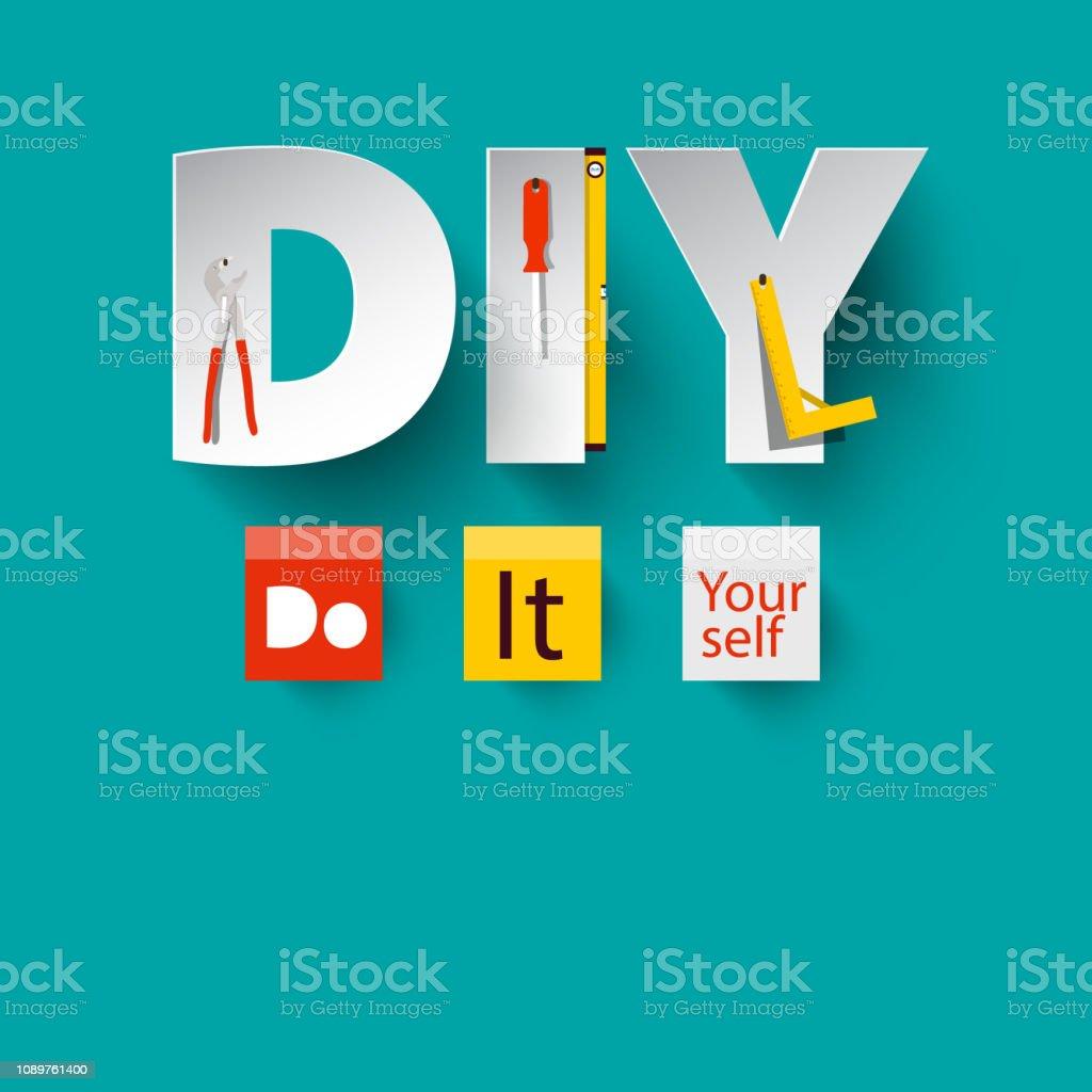 DIY - Vector Do it Yourself Design vector art illustration