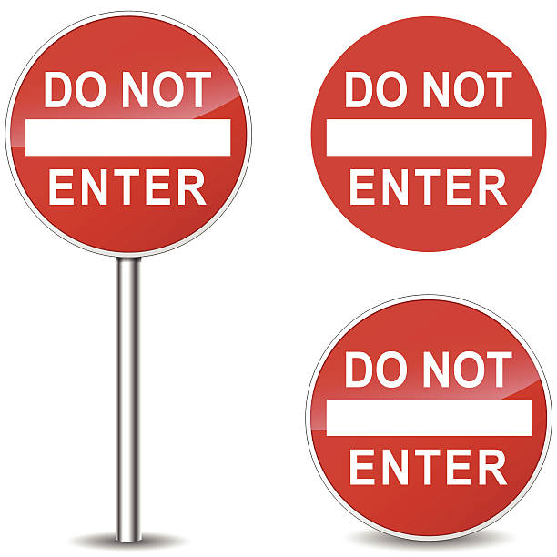 Royalty Free Do Not Enter Sign Clip Art, Vector Images ...