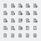 Vector document / file mini icons set