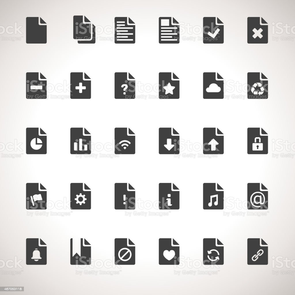 Vector Documents Icon Set vector art illustration