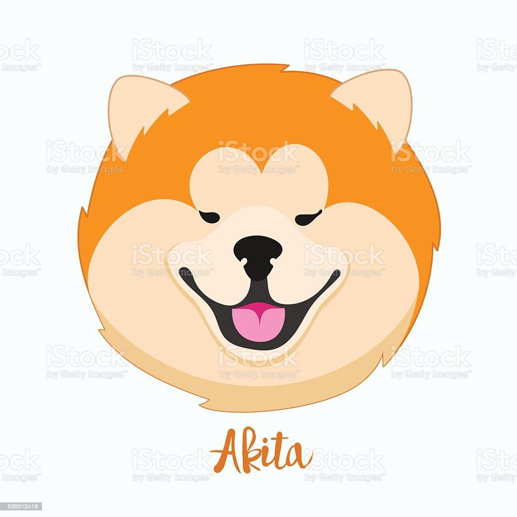 Wektor psów Akita – artystyczna grafika wektorowa