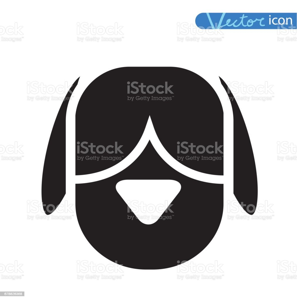 Illustration de vecteur vectoriel - icône de chien. illustration de vecteur vectoriel icône de chien – cliparts vectoriels et plus d'images de adulte libre de droits