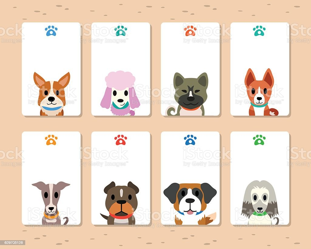 Vector dogs card vector art illustration