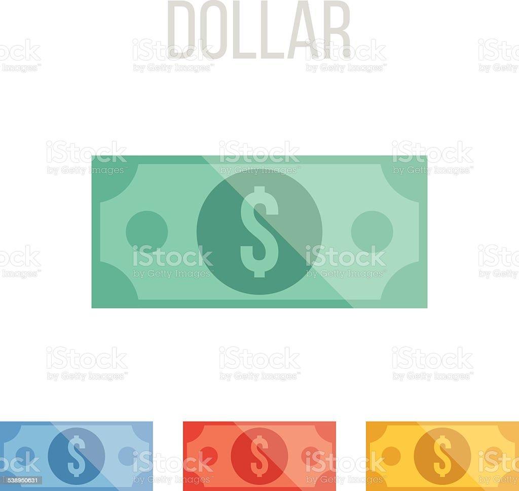 Vector dollar icons vector art illustration