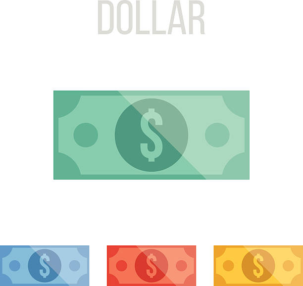 Vector dollar icons Vector dollar icons. Great quality colorful graphic design flat illustrations, ui elements, symbols and concepts for web and mobile apps. Different unique color schemes. Isolated on white background. american one hundred dollar bill stock illustrations
