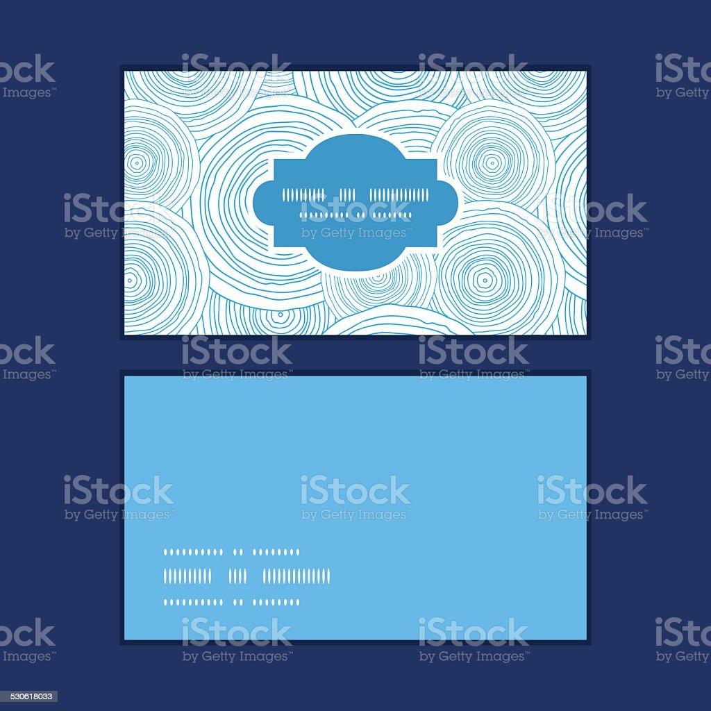 Vecteur Doodle Cercle Deau Horizontal De Texture Motif Cartes Visite Stock