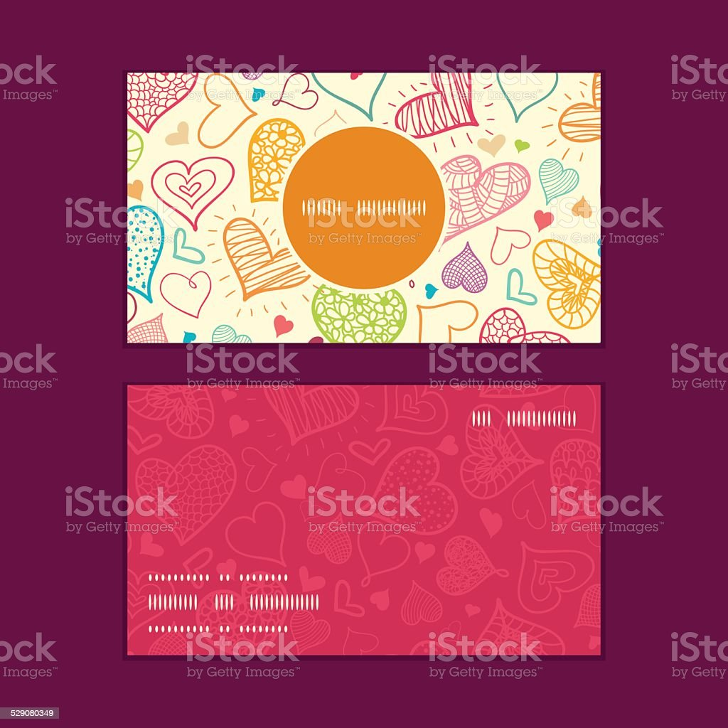 9de7710600a399 Vector Doodle Hearts Heart Silhouette Pattern Frame Stock Vector Art ...