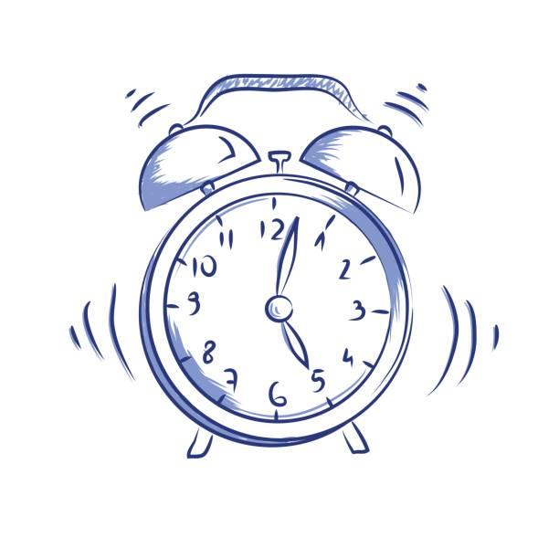 Vector doodle icon alarm clock vector art illustration