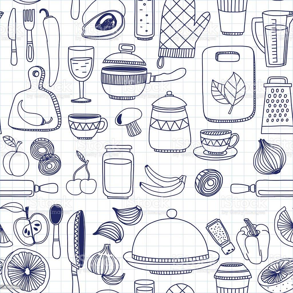 Conjunto De Desenhos De Vetor De Itens De Cozinha Arte Vetorial De