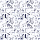 Vector doodle set of kitchenware items Hand drawn elements
