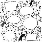 Vector Doodles - Speech Bubbles. Business, finance and success.
