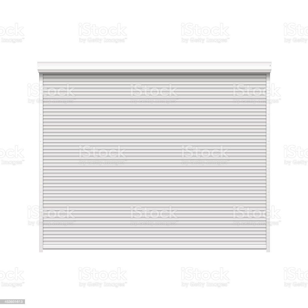 Vector Door With Rolling Shutters Stock Illustration