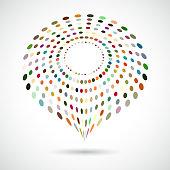 Vector Dots Symbol Pattern