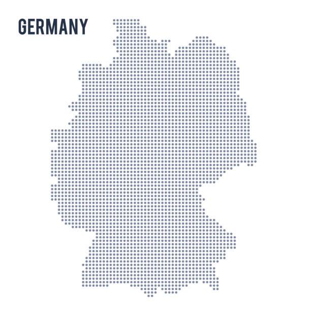 흰색 배경에 고립 된 독일의 점선된 지도 벡터. - 독일 stock illustrations