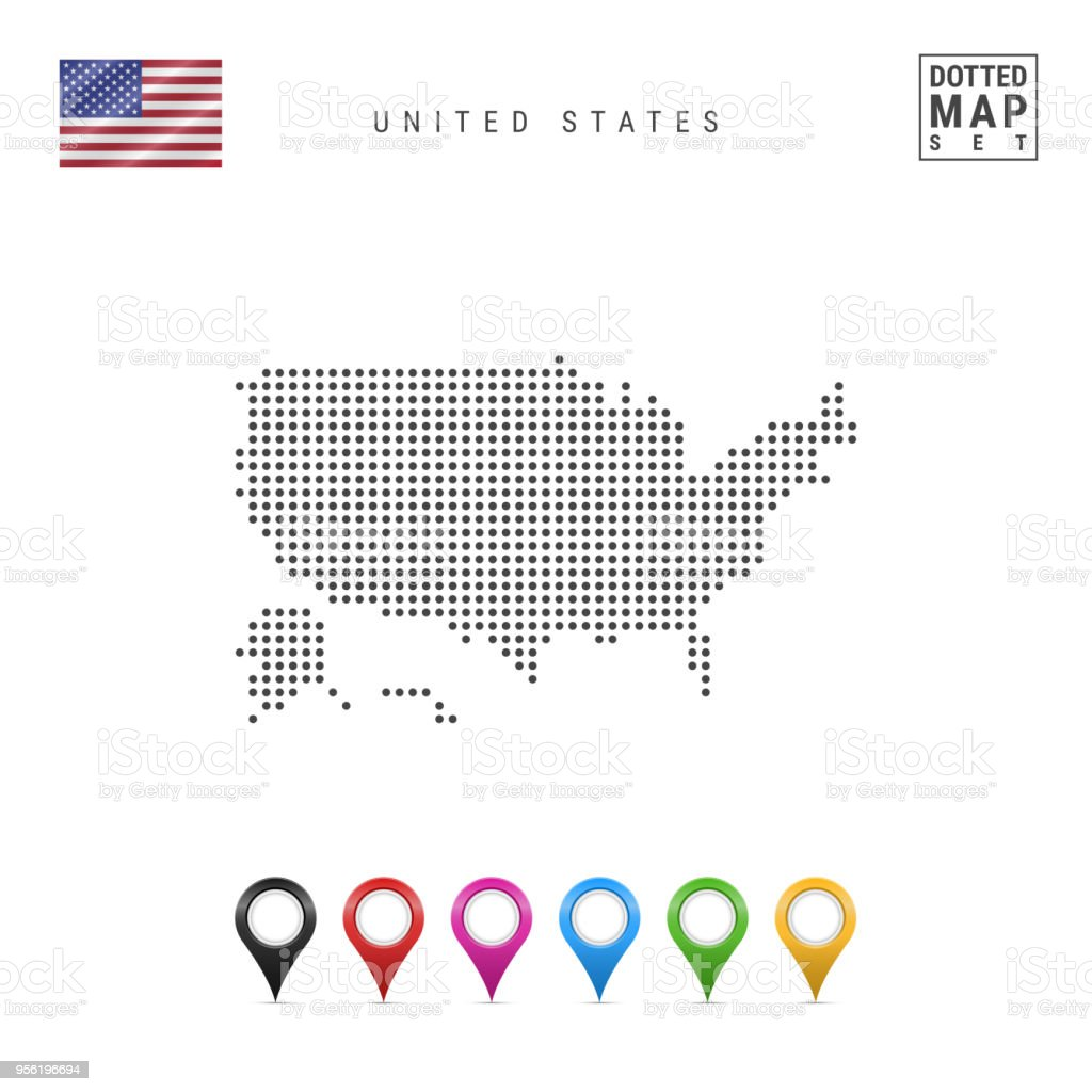 Vector Dotted Map Of The Usa Simple Silhouette Of The Usa ... on simple outline of the usa, simple map japan, simple us map, name all states in usa, simple map of usa states, simple united states, simple map uk, simple drawing of the usa, simple map australia, simple map canada,
