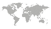 istock Vector dotted world map stock illustration 1181456134