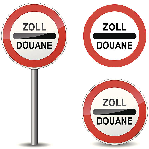 Vector douane sign Vector illustration of doaune sign on white background customs official stock illustrations