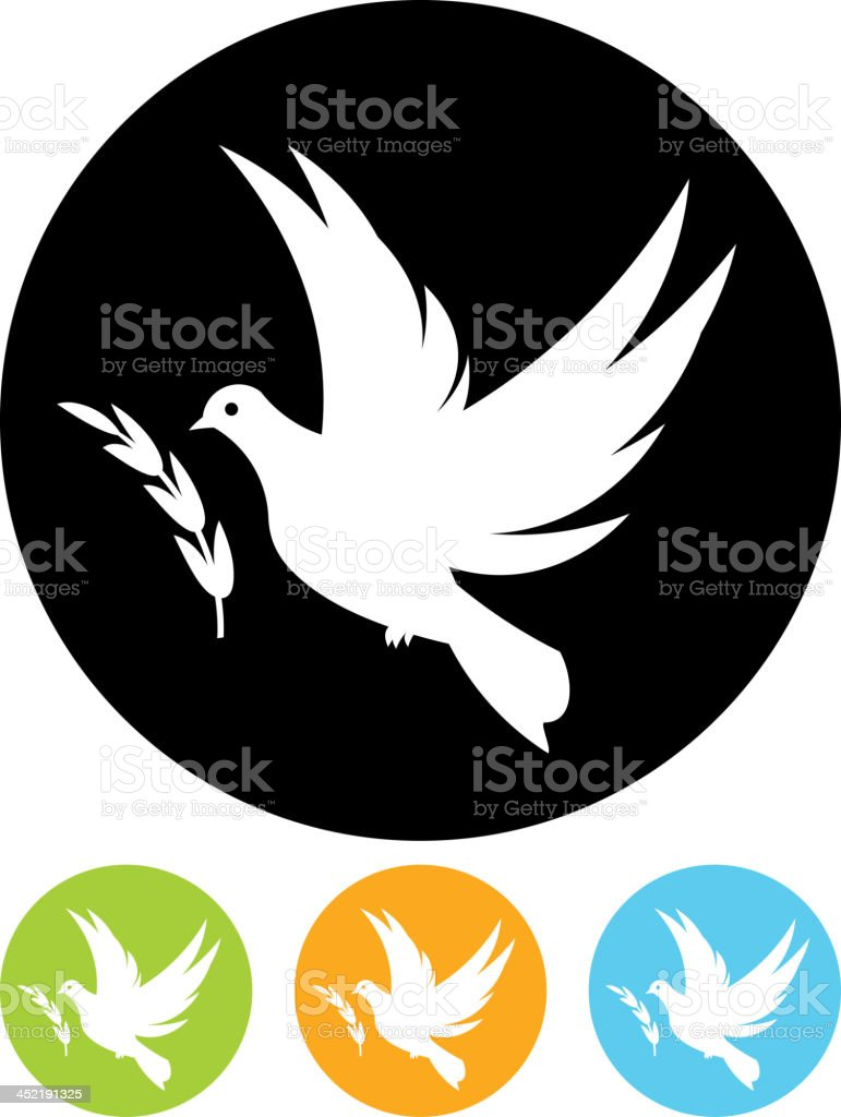 Vector dove of peace royalty-free stock vector art