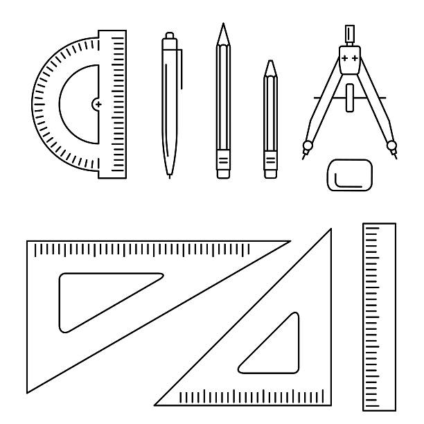 91 architecture tools vector vector illustration for Online architecture design tool