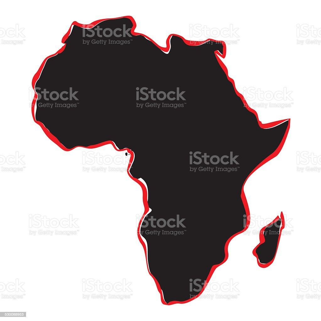Map Of Africa Drawing.Vector Drawing Map Of Africa Stock Illustration Download Image Now