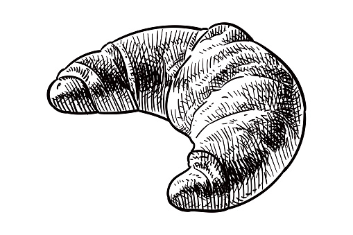 Vector drawing of a croissant