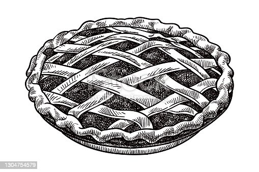 istock Vector drawing of a pie 1304754579