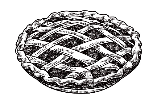 Vector drawing of a pie