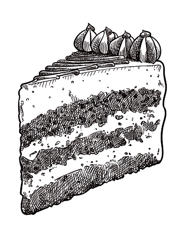 Vector drawing of a piece of cake