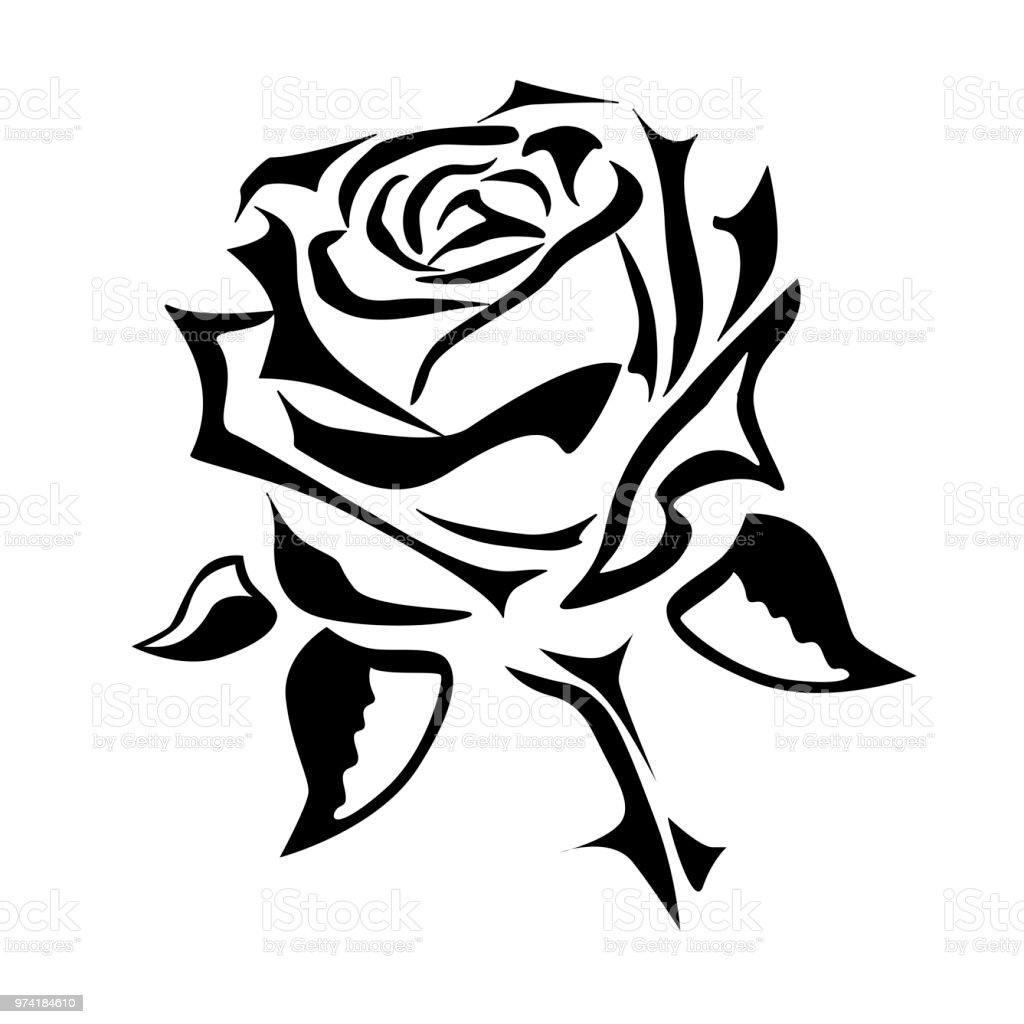 dessin dun tatouage rose vectoriel logo cliparts. Black Bedroom Furniture Sets. Home Design Ideas