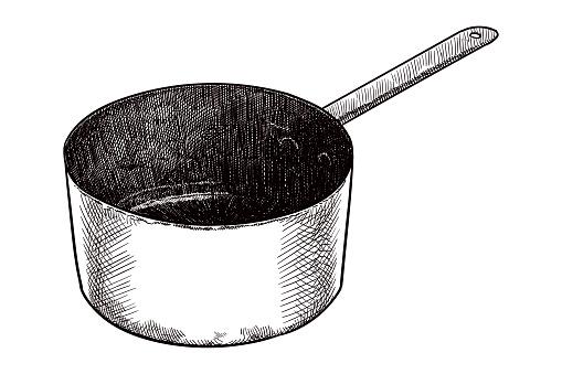 Vector drawing of a saucepan