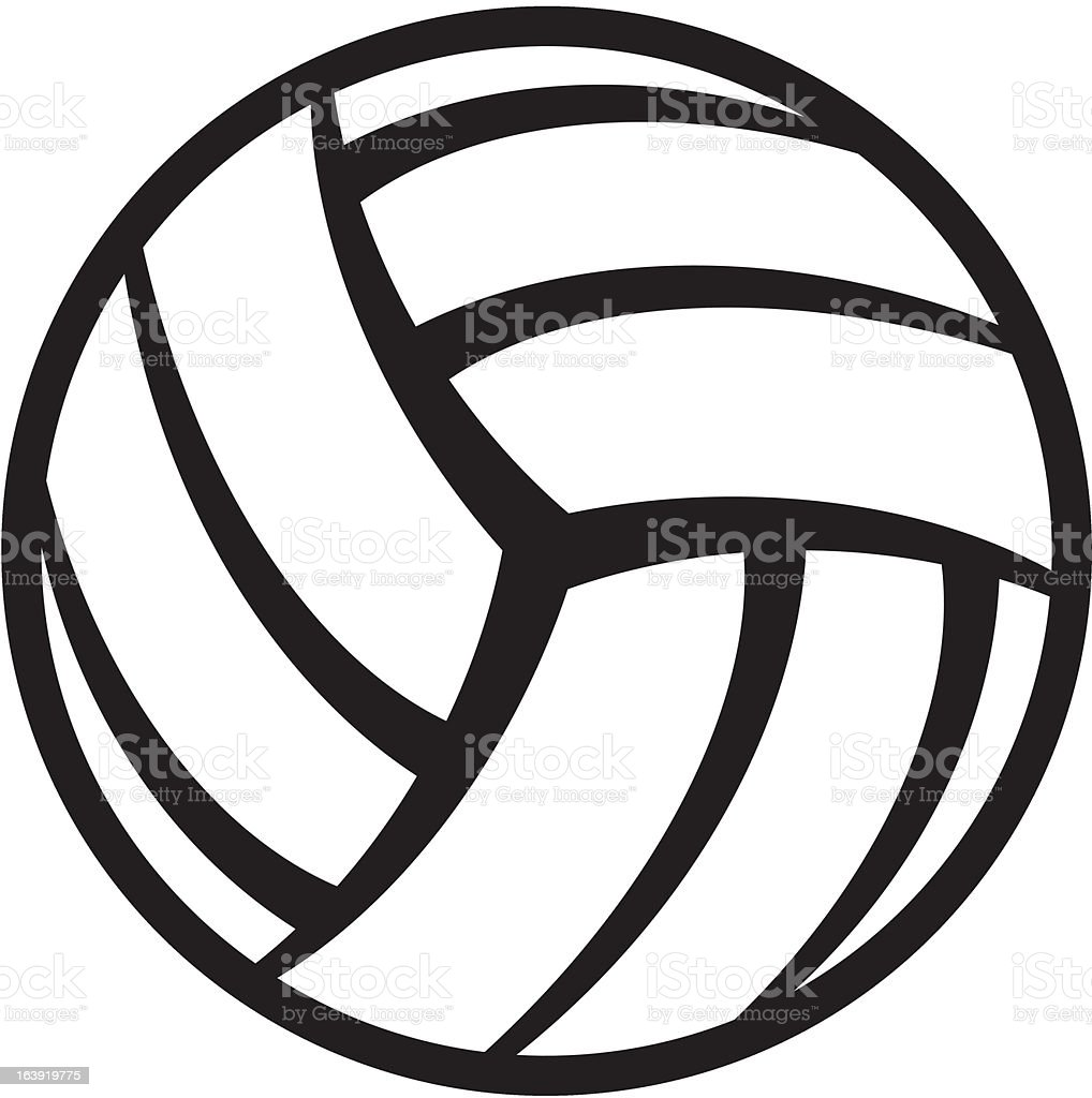 Vector drawing of a volleyball vector art illustration
