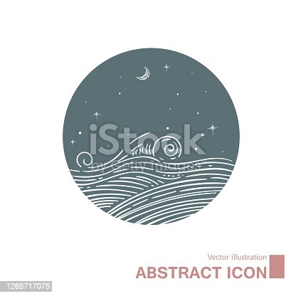 istock Vector drawing of abstract water. 1265717075