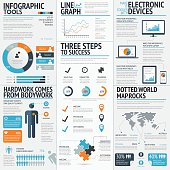 istock Vector drawing of business infographic elements 482671743