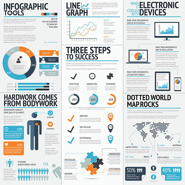 vector drawing of business infographic elements - 圖畫 藝術品 幅插畫檔、美工圖案、卡通及圖標