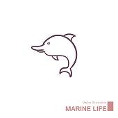 istock Vector drawing of marine life. 1271432224