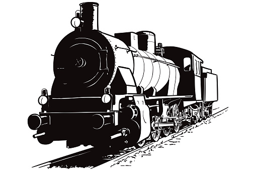 Vector drawing of the locomotive
