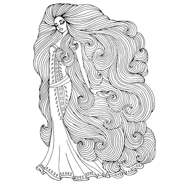 Top 60 Rapunzel Clip Art Vector Graphics And Illustrations Istock