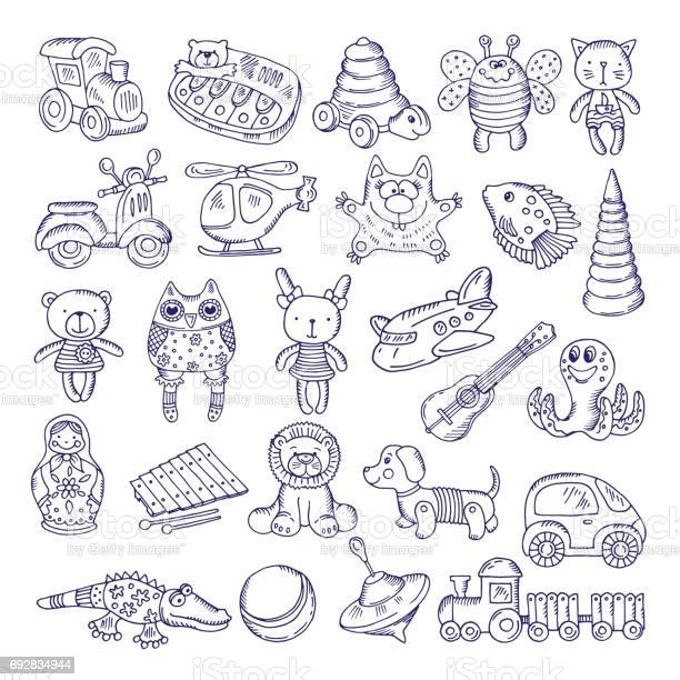 Vector drawing vintage collection of toys children games illustration vector id692834944?b=1&k=6&m=692834944&s=612x612&h=op5ejbkcghcwgj feshg3ugvm0iuajnke0ztecxghdm=
