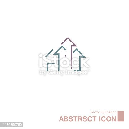 Vector drawn abstract symbol. Isolated on white background.
