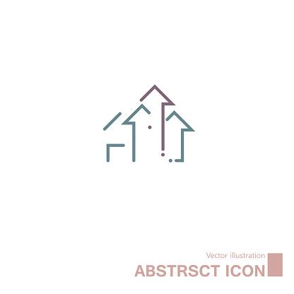Vector drawn abstract symbol.