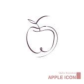istock Vector drawn apple. 1270134775
