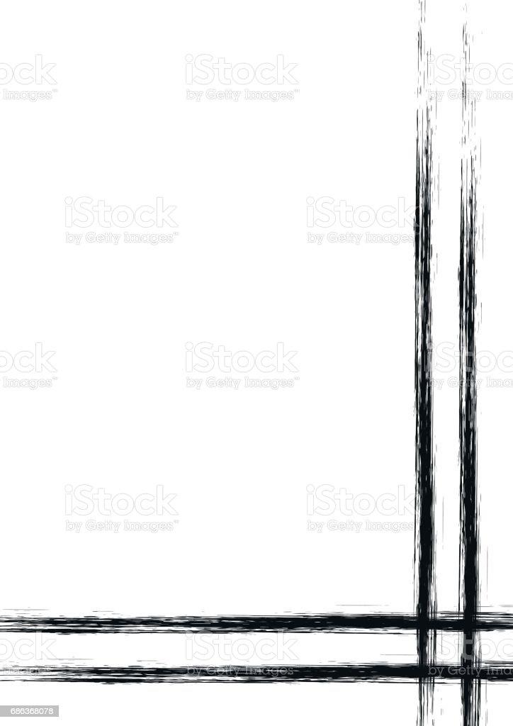 ベクター フレームで描かれた背景ボーダーしますグランジ ピンク線で